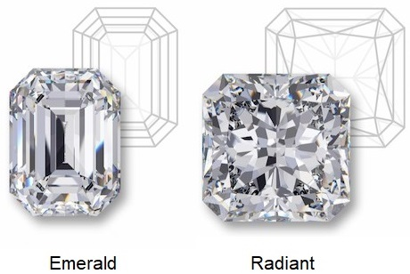 Emerald & Radiant Cut Difference