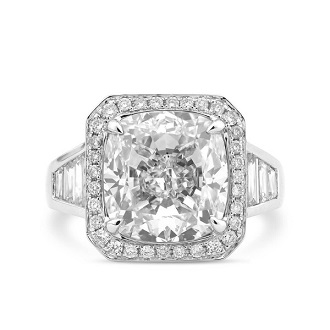 Halo Accent Engagement Ring