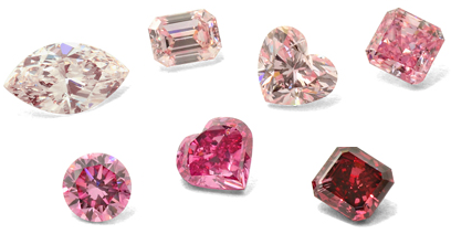 A Collection Of Fancy Pink Diamonds