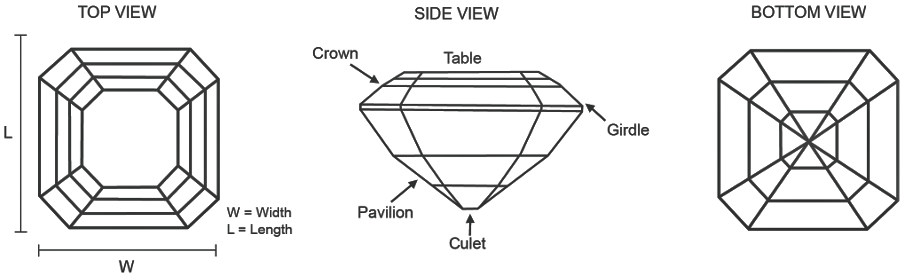 Asscher Cut Diamond Features