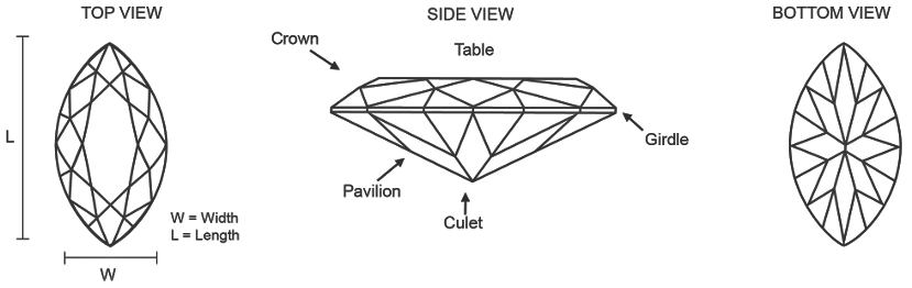 Marquise Cut Diamond Features