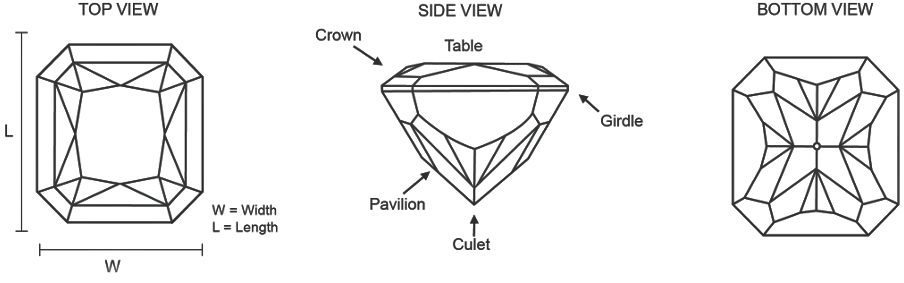 Radiant Cut Diamond Features