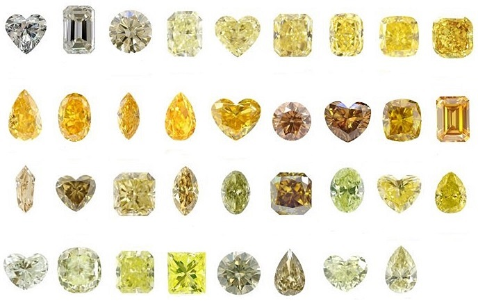 Yellow Diamond Secondary Hues